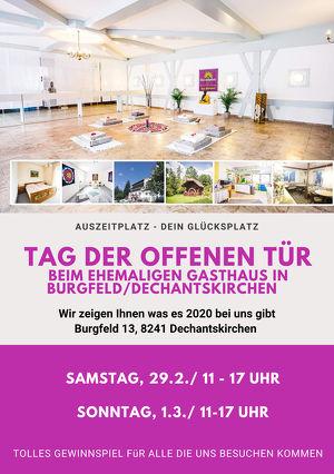 2x TAG DER OFFENEN TÜRE - Auszeit vom Alltag in einem ehemaligen Gasthaus