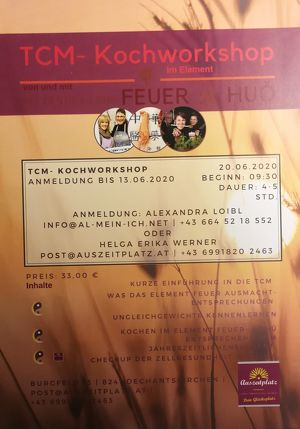 TCM  Koch - Workshop im Element FEUER