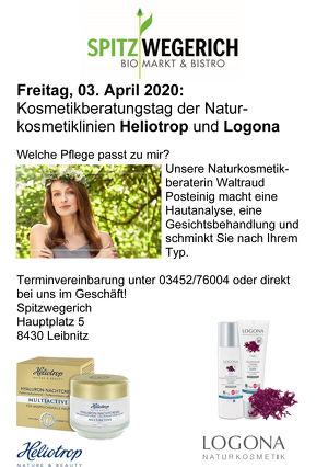 Kosmetikberatungstag der Naturkosmetiklinien Heliotrop und Logona