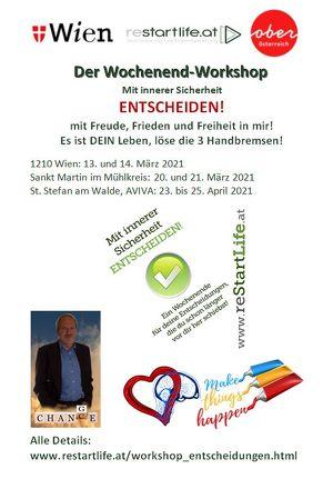 Mit innerer Sicherheit ENTSCHEIDEN! - der Wochenend-Workshop in WIEN