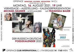 Jour fixe mit Michael Baumer - Malerei und Franziska Bauer - Poesiekalender 2022