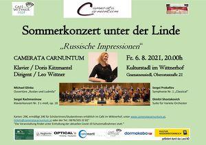 Sommerkonzert unter der Linde: Russische Impressionen