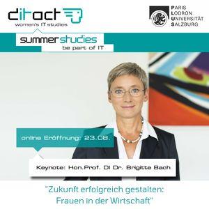 online-Eröffnung der ditact_women's IT summer studies 2021