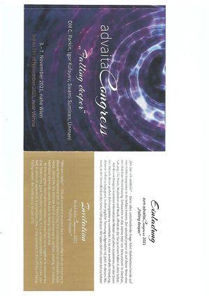 Einladung zum advaitaCongress 2021
