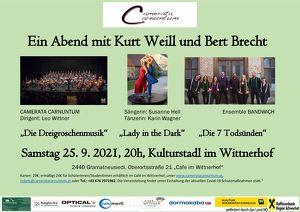 Camerata Carnuntum Ein Abend mit Kurt Weill und Bert Brecht