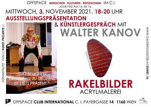 Ausstellungspräsentation Walter Kanov – Rakelbilder