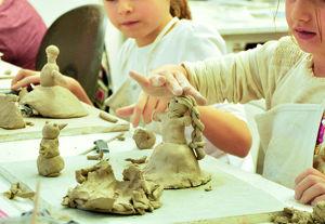 Kinder Keramik Kurs Eiskönigin und Schneemann