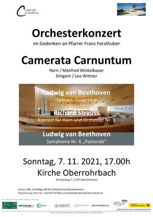 Camerata Carnuntum Orchesterkonzert im Gedenken an Pfarrer Franz Forsthuber